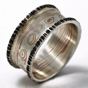 Žiedas Mokume Gane