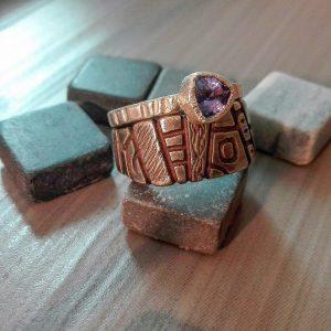 Dviejų sidabro žiedų derinys su vandens safyru