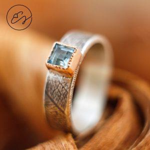 Sidabro žiedas su berilu