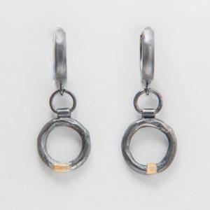 Juodojo sidabro auskarėliai